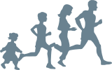 logo family running
